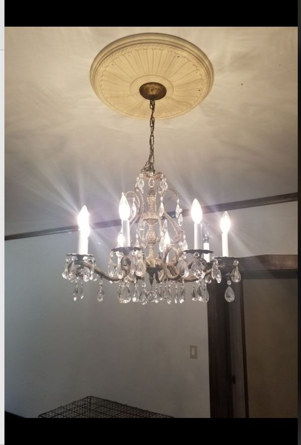 Antique crystal chandelier for sale in chicago il offerup aloadofball Images