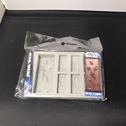 Star Wars: Han Solo in Carbonite Silicone Ice Tray / Chocolate Mold/ Single Tray Thumbnail