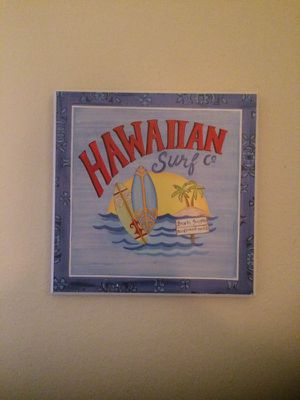 Hawaiian surf wall plaque for Sale in Apex, NC