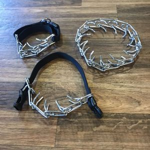 2 Dog Prong Collars Size Small - Medium for Sale in Anaheim, CA