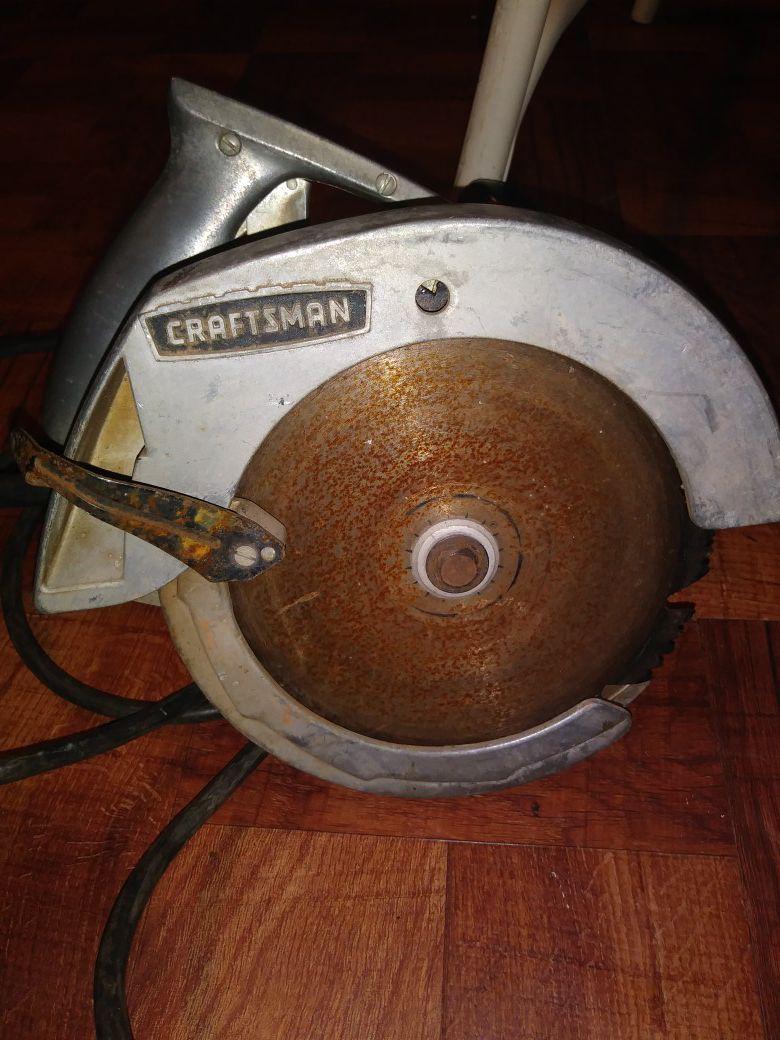 1960s sears craftsnan saw.
