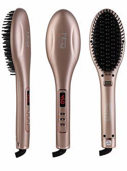 Flat Iron Hair Brush Straightener Thumbnail