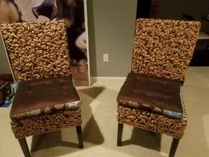 wicker & wood side chairs for Sale in Severn, MD