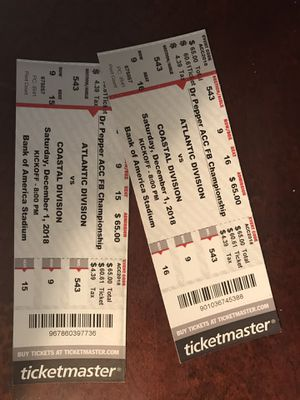 ACC CHAMPIONSHIP TICKETS for Sale in Cary, NC