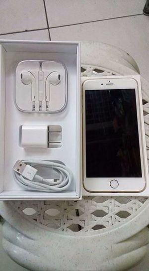 At T Iphone 6 128gb Unlocked Gold And White With Box And Accesories