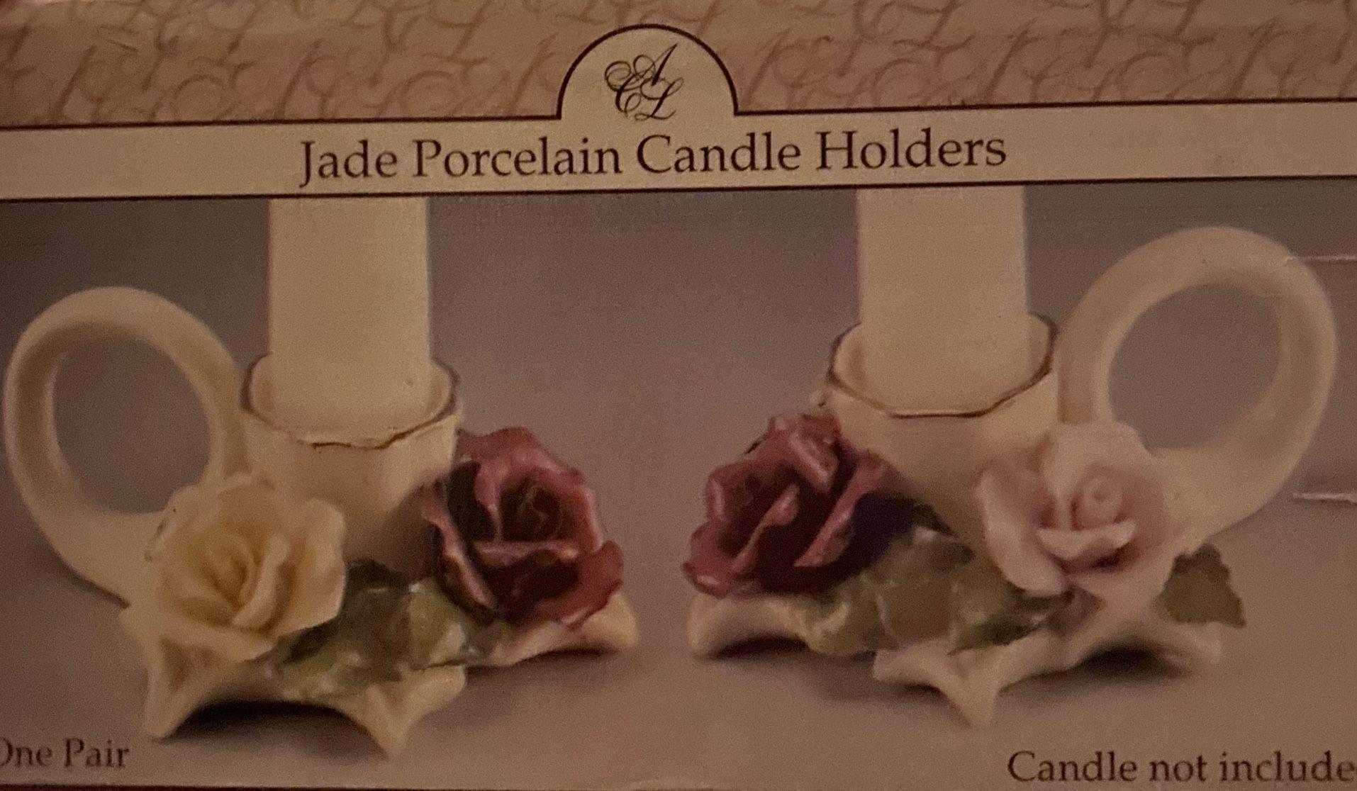 Jade Porcelain Candle Holders