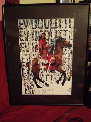 Photo BEAUTIFUL INDIAN IN THE SNOW FRAMED ART