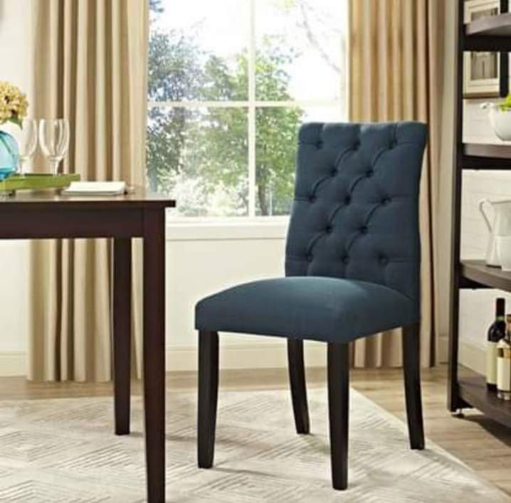 BRAND NEW  Modway Duchess Modern Elegant Button-Tufted Upholstered Fabric Parsons Dining Side Chair in Azure EEI-2231-AZU