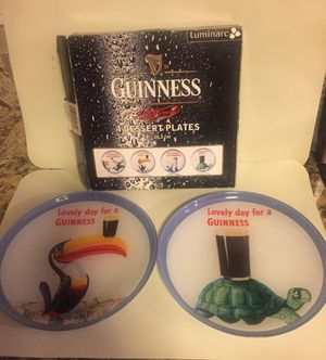 Brand New Guinness Beer Dessert Dinner Salad Novelty Plates - Set of 4 for Sale in Chicago, IL