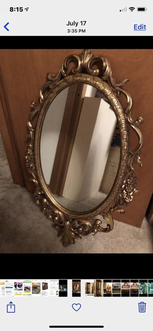 Old gold antique mirror beautiful belonged to my mother for Sale in Burien, WA