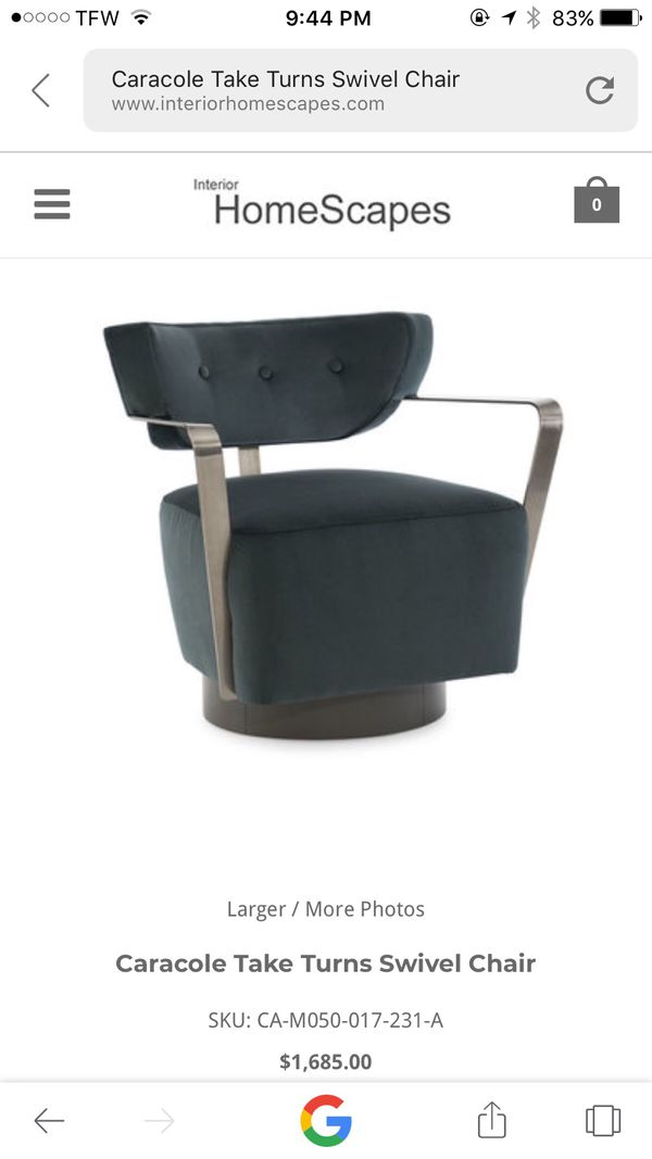 Fine Caracole Modern Swivel Chair For Sale In Salisbury Nc Offerup Creativecarmelina Interior Chair Design Creativecarmelinacom