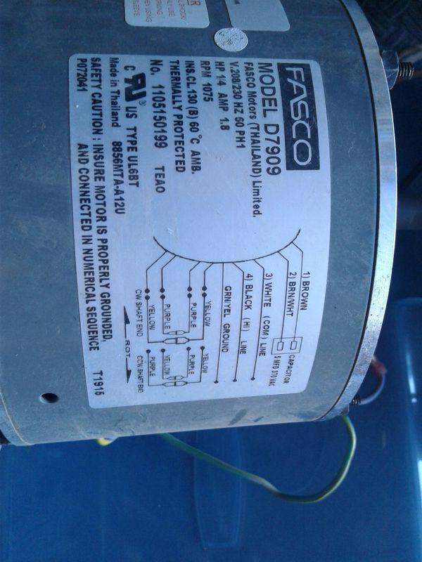 Condenser fan motor for Sale in El Mirage, AZ - OfferUp