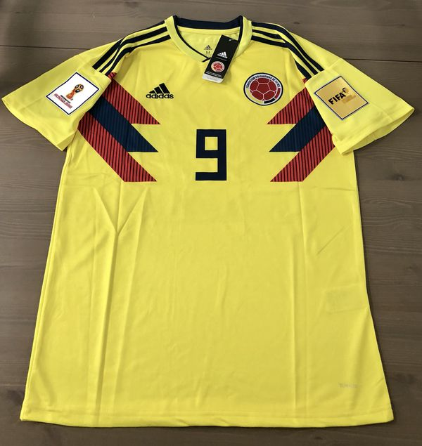 c444f68e0 Colombia Falcao  9 Yellow Soccer Adidas jersey men World Cup 2018 for Sale  in Miami