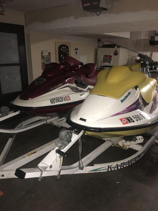 (2) seadoo bombardier jet skis