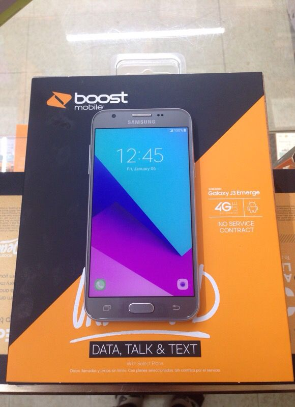 Galaxy J3 Emerge Boost Mobile Brand new phone First Month included  Unlimited talk text and 4g LTE for Sale in Brooklyn, OH - OfferUp