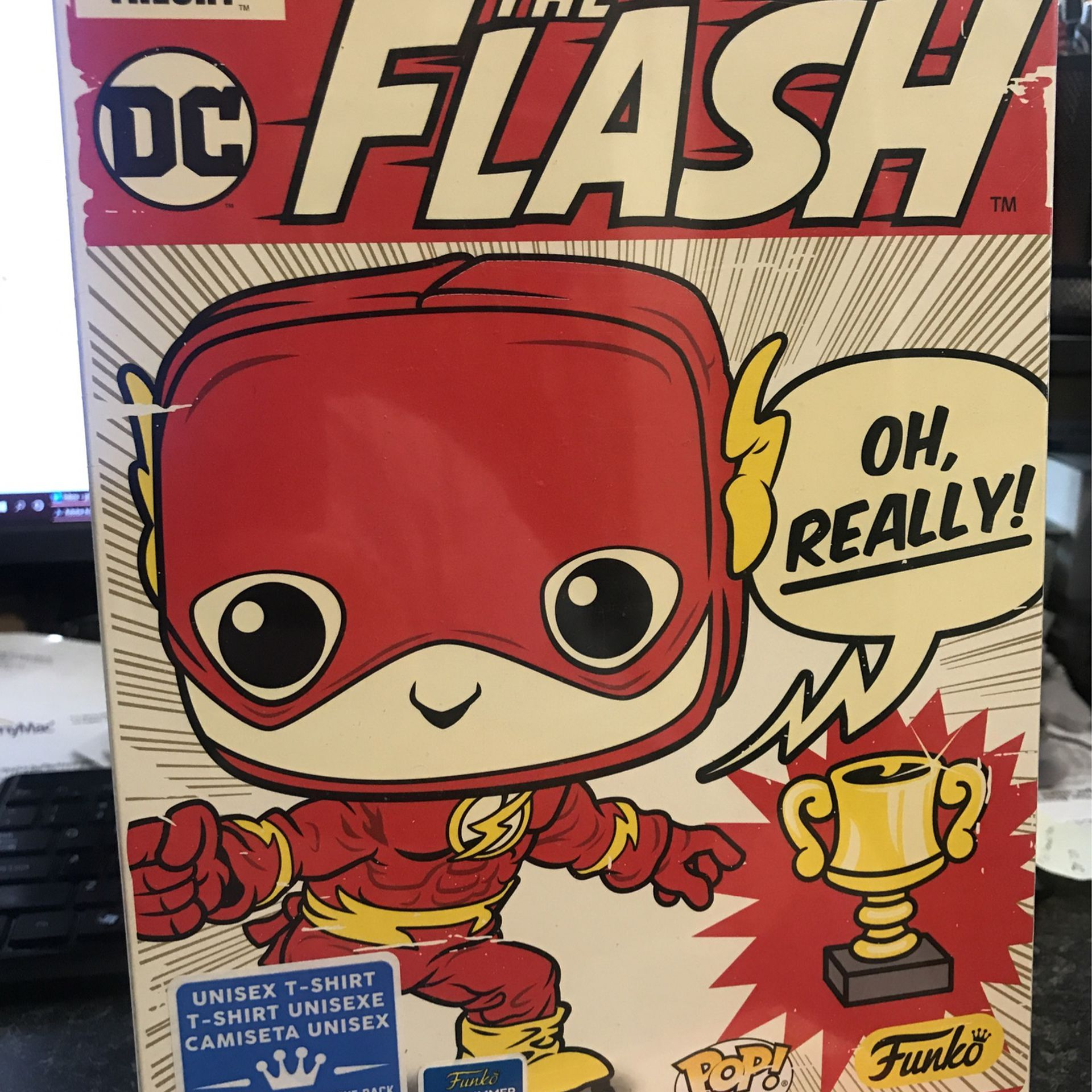 Sheldon As The Flash Funko Pop Tee Big Bang Theory T Shirt