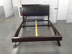 Free delivery leather? Queen bed frame for Sale in Takoma Park, MD