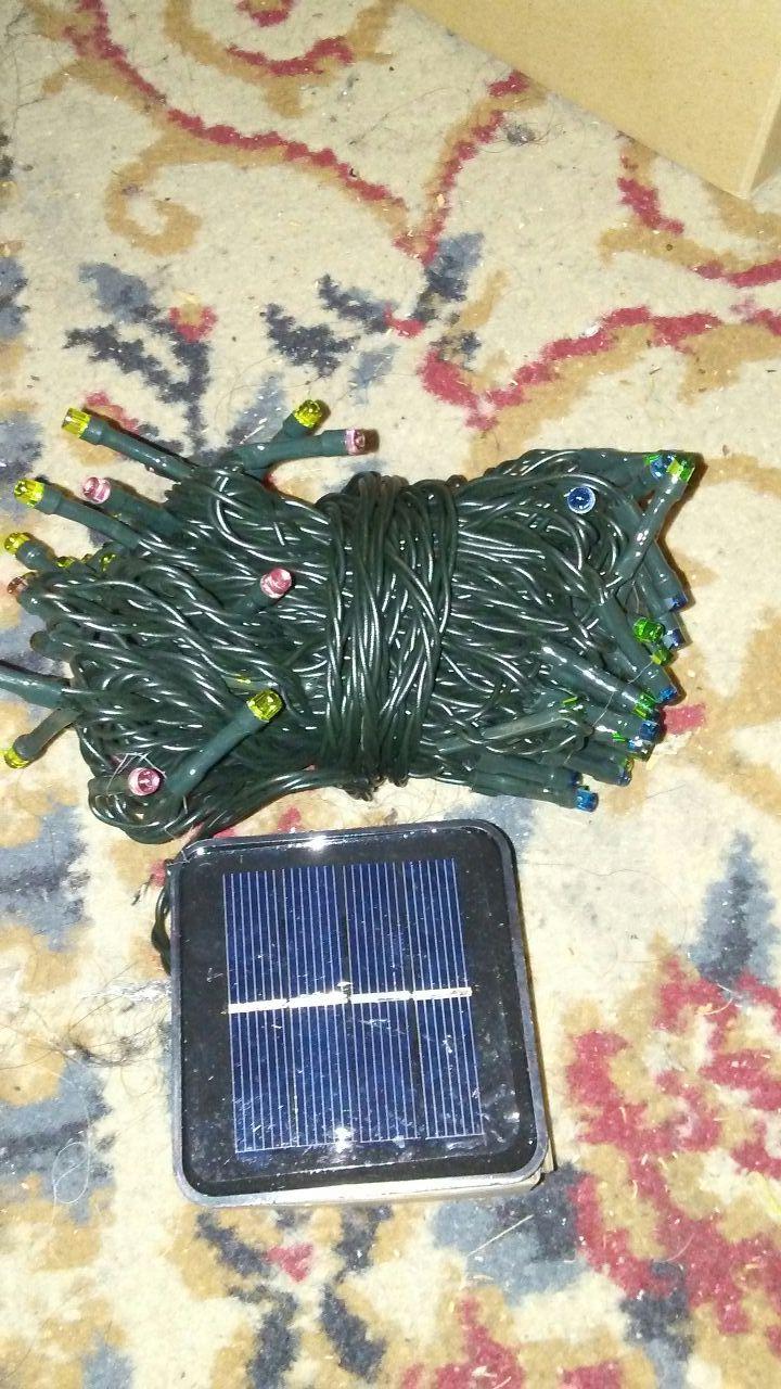 Christmas lights 50ft solar panel