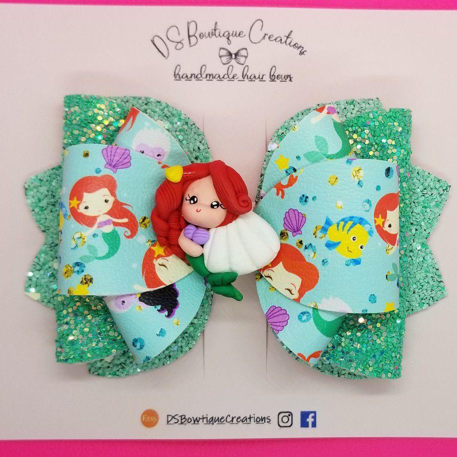 Little Mermaid Ariel Inspired Hair Bow