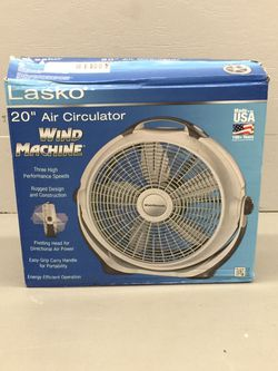 "Lasko 20"" Air Circulator Wind Machine 3 Speed Fan Thumbnail"