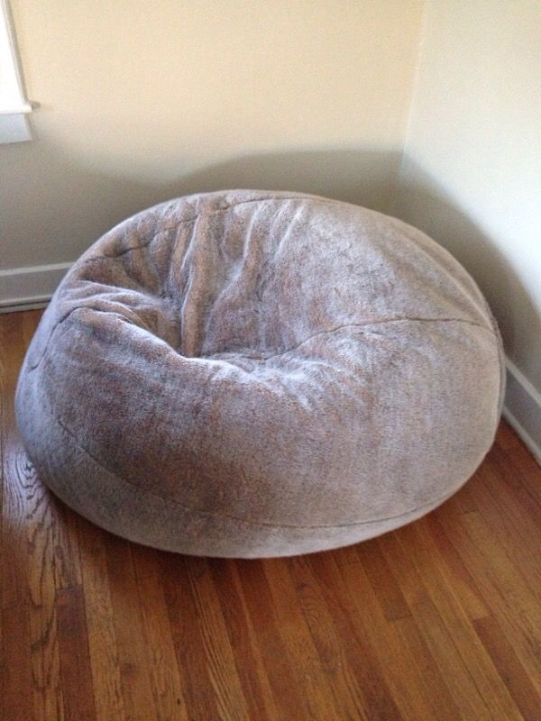 b71bc872c877 Restoration Hardware faux fur bean bag chair in Lynx for Sale in ...