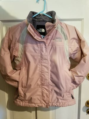 The North Face girl's/filles S/P pink ,gray colors Jacket with hood for Sale in Martinsburg, WV
