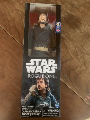 Star Wars rogue one captain cassian andor action figure for Sale in Fresno, CA