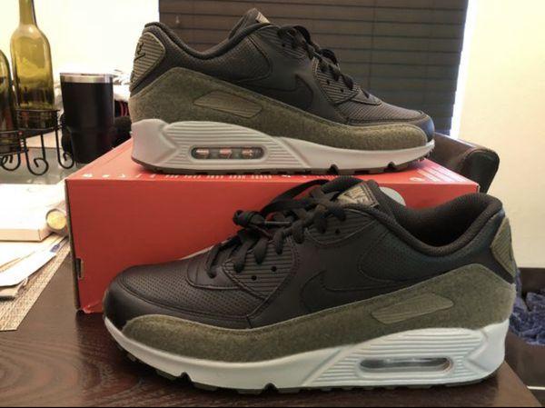 33322385bf Men's Nike Air Max 90 HAL Hot Air AH9974-002 Black Medium Olive Flat Silver  Black Size 12 Shoes New