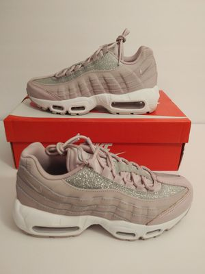 Nike Air Max 95 Womens Sz 7 Pink Rose Glitter Sparkle At0068 600