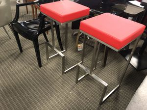 Set of 2 red bar stools for Sale in Lincolnia, VA