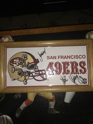 Autographed Steve Young Clock for Sale in Tacoma, WA