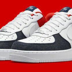 Air Force 1 '07 LX 'White Red Denim'