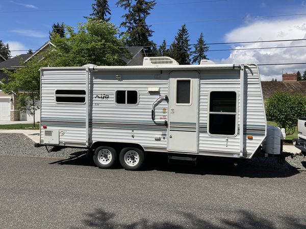 2005 Aljo Travel Trailer 21 foot roof AC Awning Pristine ...