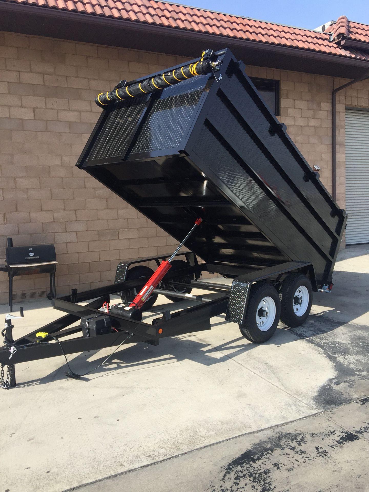 Brand new 8x12x4 HD dump trailer