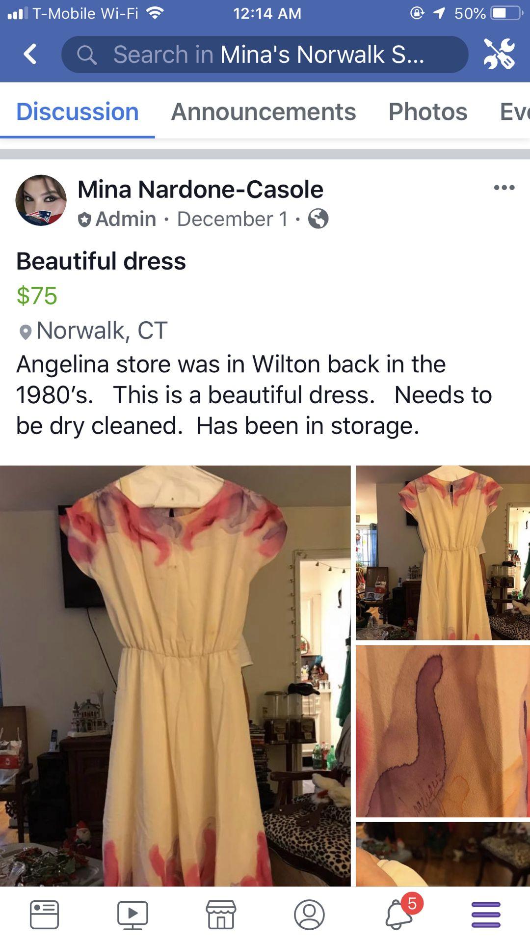 Beautiful dress.