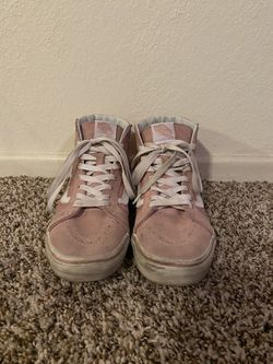 Pink vans high top shoes size men's 7.5 Thumbnail