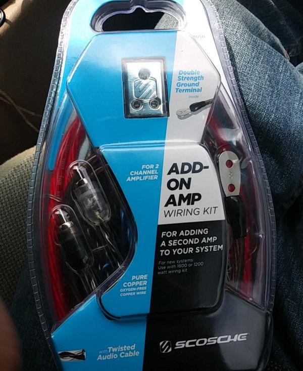 Scosche addon amp wire kit for Sale in Orangevale, CA - OfferUp