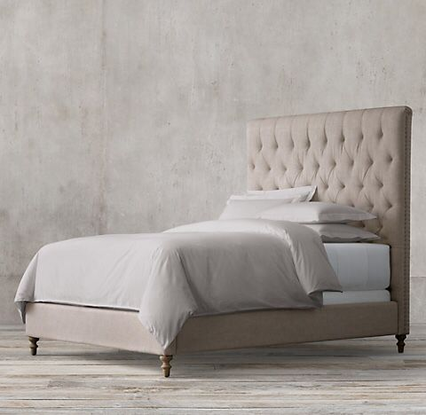 Brand New Restoration Hardware Style Flat Chesterfield Bed