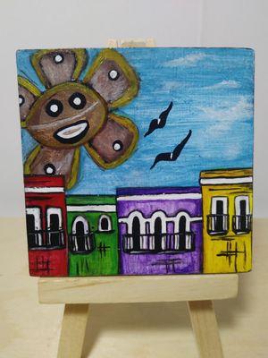 Mini painting of the native,old San Juan. Art of old San Juan. Native San Juan for Sale in Lakeland, FL
