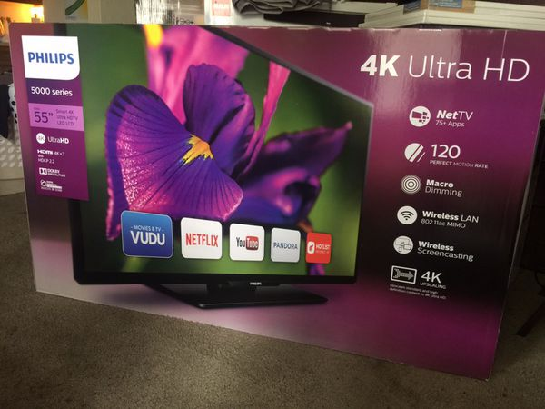 Brand spanking new 55 inch smart 4K ultra HD LED TV   for Sale in  Sacramento, CA - OfferUp