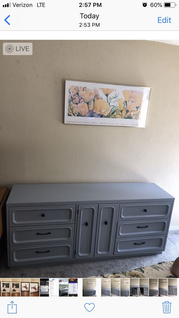 Refinished Heavy Dresser 69 Inch Long 18 Wide 30 Tall For In Mesquite Tx Offerup