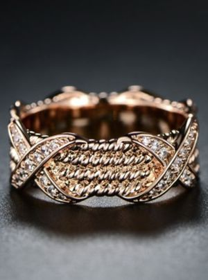 18k Rose Gold Cz Ring size 5-10 Engagement/Wedding for Sale in Miami, FL