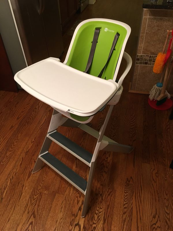 Pleasant 4Moms High Chair Green And White For Sale In Des Plaines Il Offerup Ncnpc Chair Design For Home Ncnpcorg