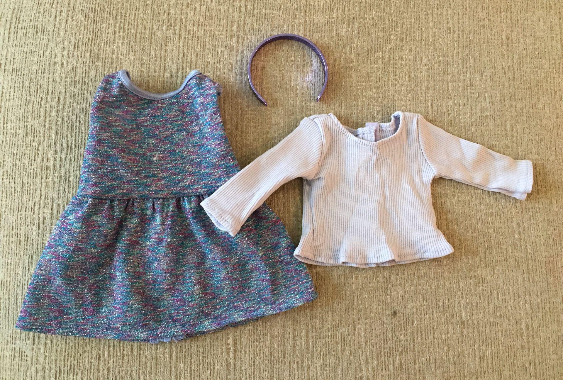 "American Girl 18"" Doll Purple Sparkle Jumper"