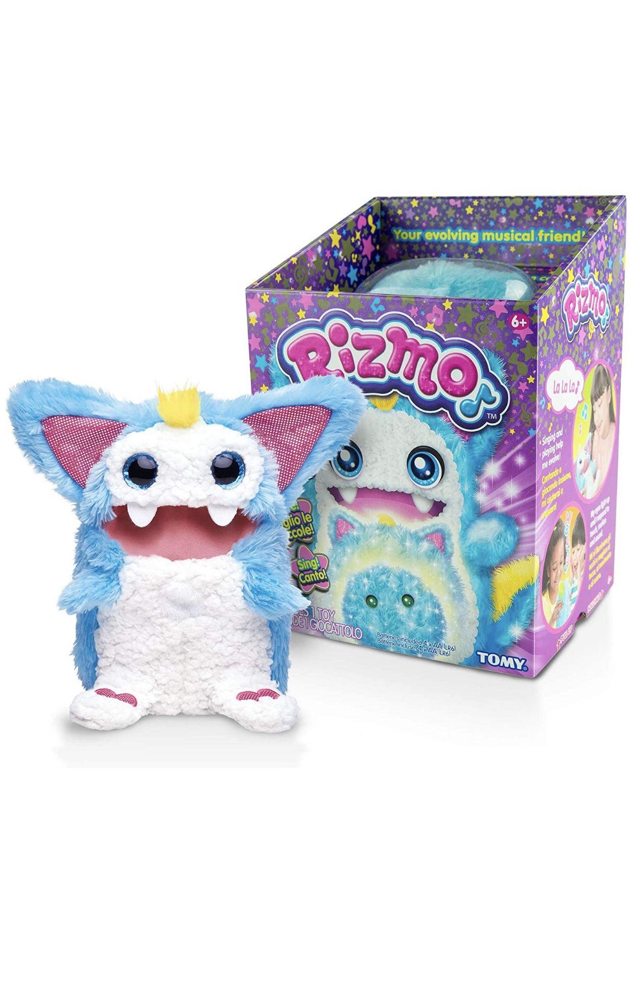 New Rizmo Evolving Musical Friend Interactive Plush Toy with Fun Games, Aqua