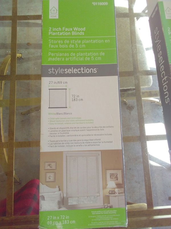 Faux Wood Blinds By Style Selections