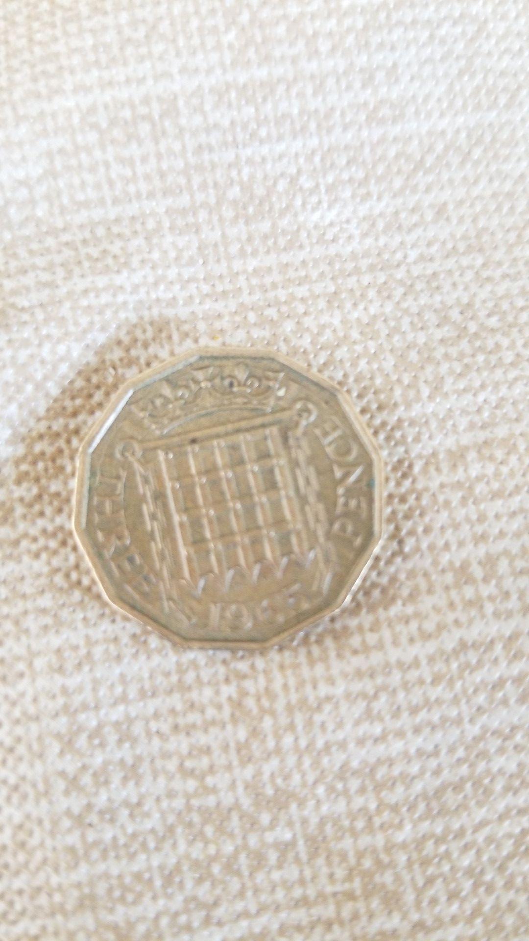 1965 3 Pence coin...make offer