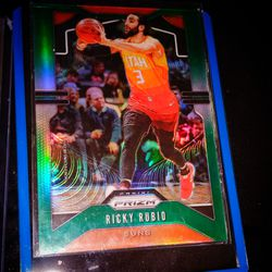 2019-20 Prizm Ricky Rubio No.167 ORANGE And Green REFLECTOR Thumbnail