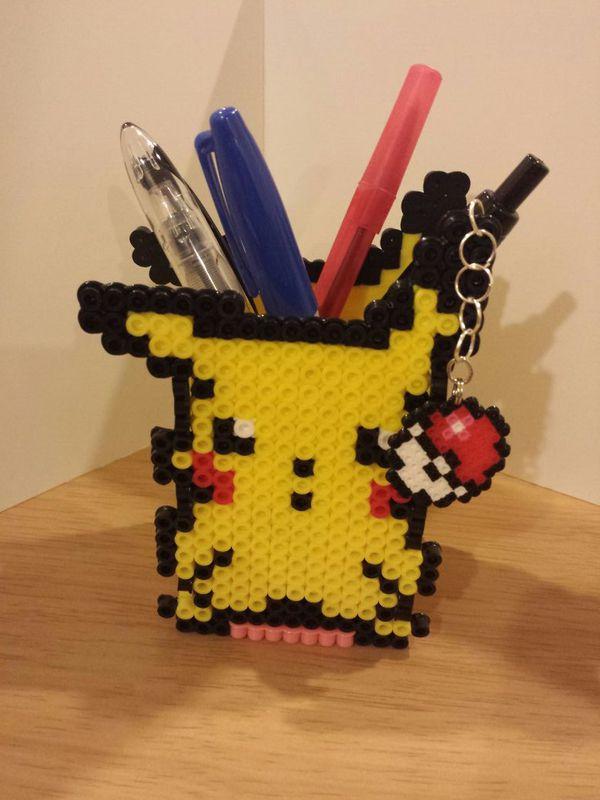 Pokemon Pikachu Perler Bead pencil holder for Sale in Monterey Park, CA -  OfferUp