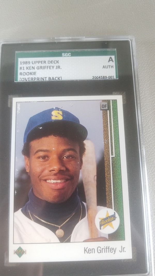 1989 Upper Deck Ken Griffey Jr Error Rookie Sgc For Sale In Swansea Ma Offerup